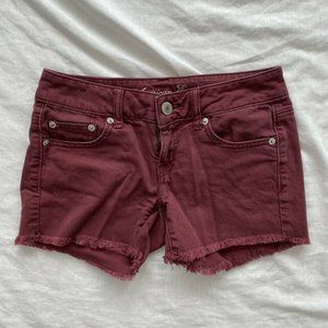 American Eagle Womens Jean Shorts Red Size 0
